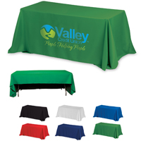 Fit 8 Foot Table 3-Sided Economy Table Cover Throws (Spot Color Print)